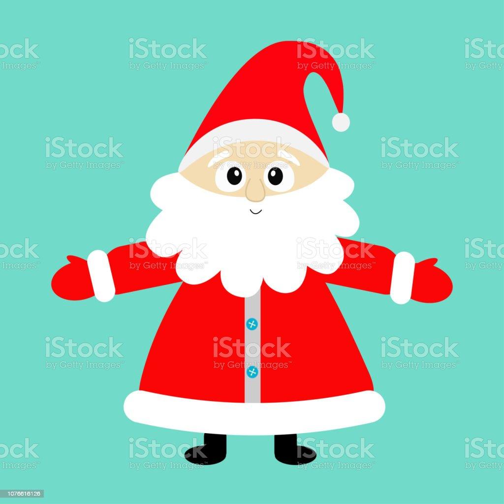 8535c2e0ef450 Santa Claus Wearing Red Hat Costume Big Beard Cute Cartoon Kawaii ...