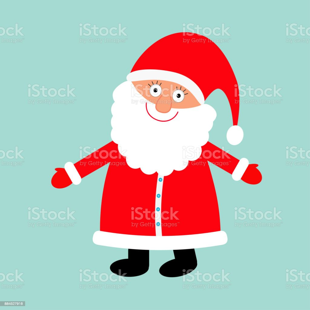 Santa Claus De Porter Le Chapeau Rouge Deguisement Grande Barbe