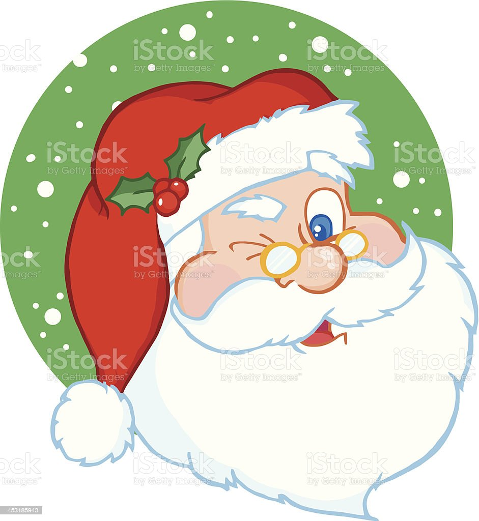 Santa Claus Winking royalty-free stock vector art
