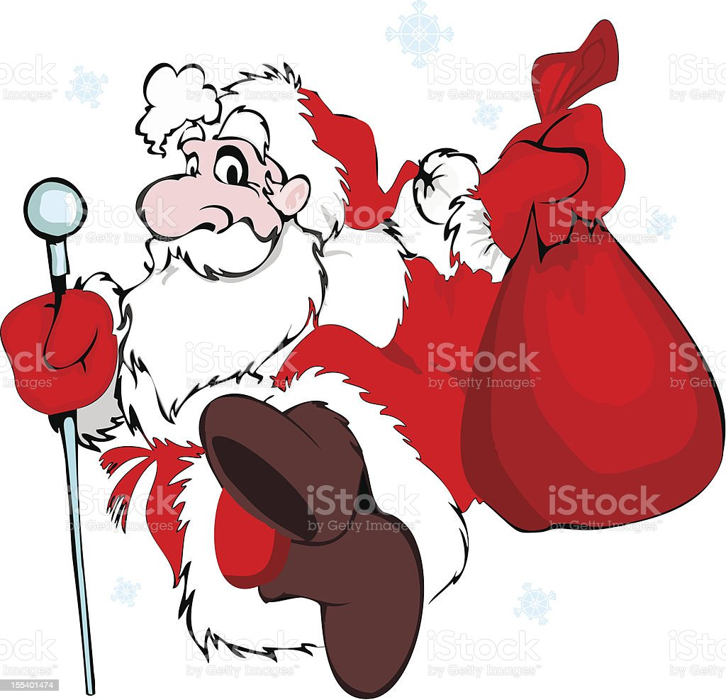 Santa Claus with a bag royalty-free santa claus with a bag stock vector art & more images of adult