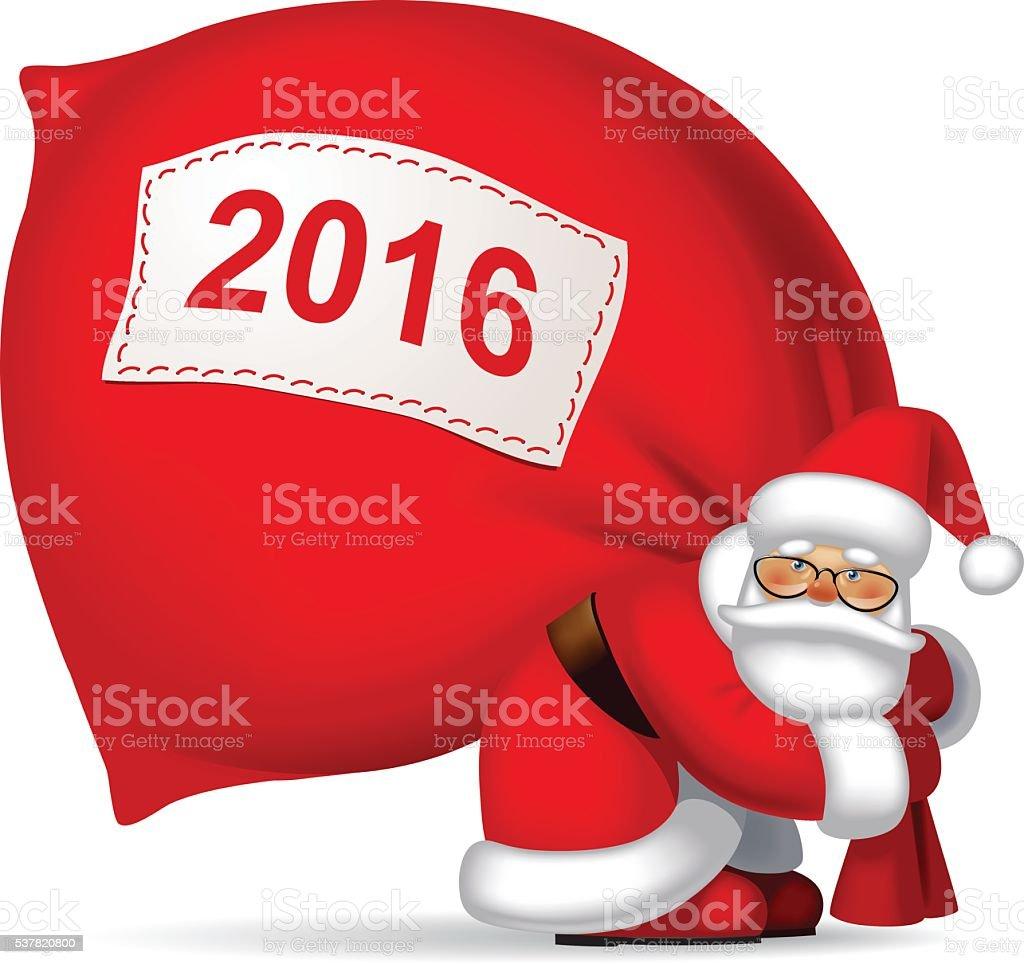Immagini Babbo Natale Con Sacco.Babbo Natale Con Un Sacco Di Immagini Vettoriali Stock E Altre Immagini Di 2016