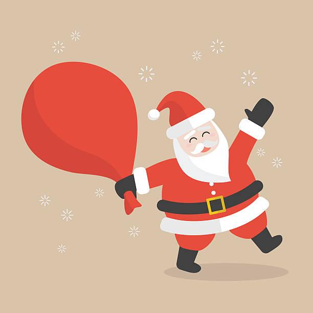 royalty free santa claus big sack clip art vector images