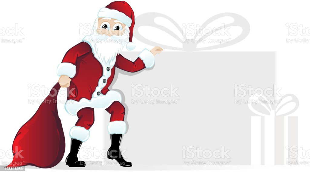 Santa Claus with Christmas gifts royalty-free stock vector art