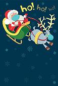 istock Santa Claus with mask on Coronavirus Christmas. 1269627901