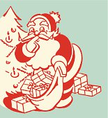 Santa Claus with Open Sack of Toys