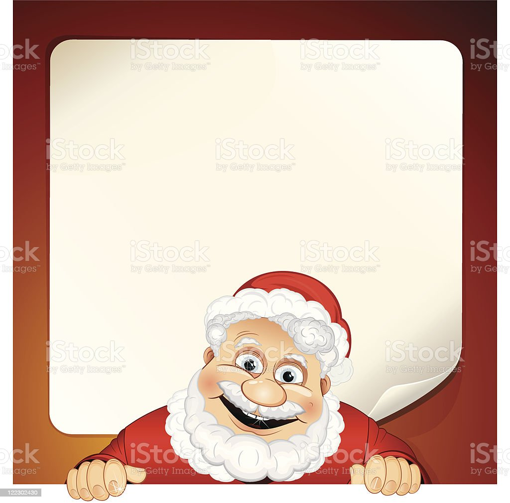 Santa Claus with Wish List royalty-free stock vector art