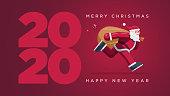 istock Santa Clausn running year 2020 1191658550