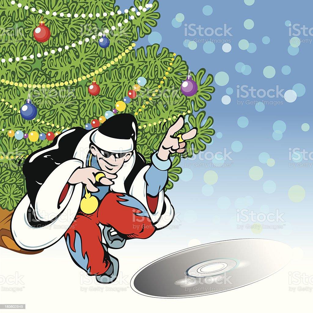 Santa Claus-rapper royalty-free stock vector art