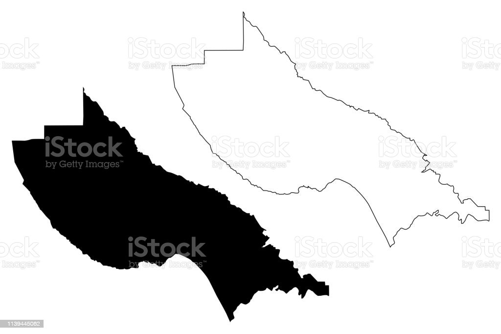 Santa Cruz County California Map Vector Stock Vr Art und mehr ... on