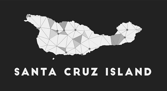 Santa Cruz Island - communication network map.