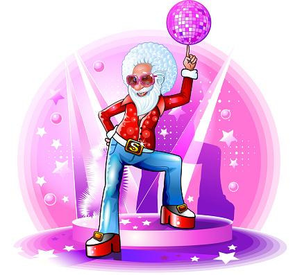 Santa disco dancer