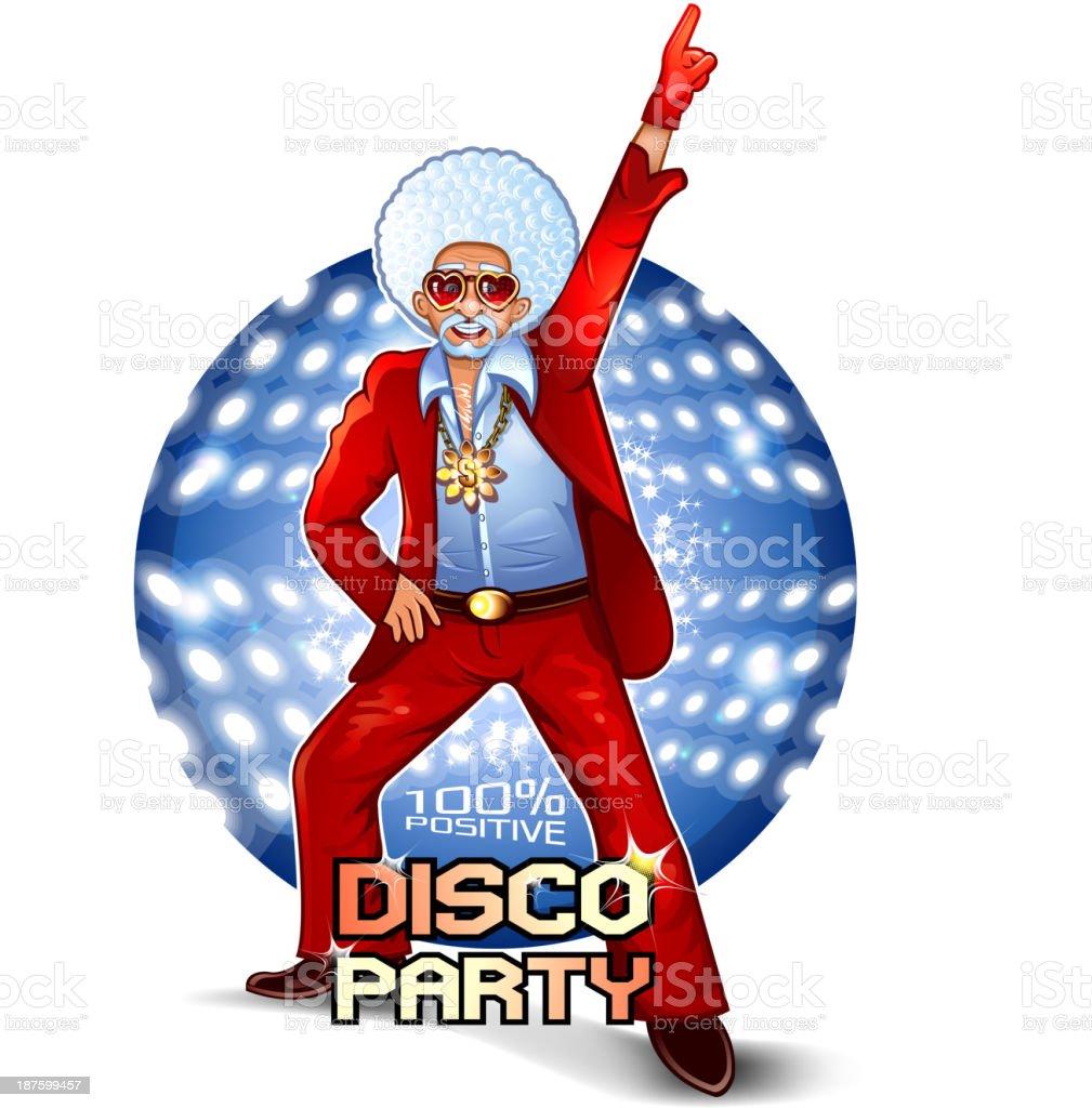 Santa Disco Dancer vector art illustration