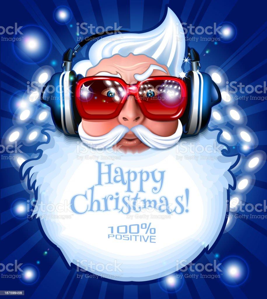 Santa DJ vector art illustration