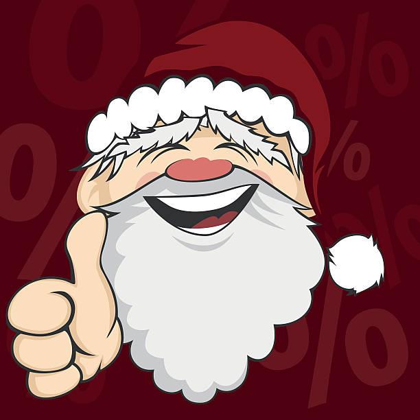 santa faces - old man showing thumbs up cartoons stock illustrations, clip art, cartoons, & icons