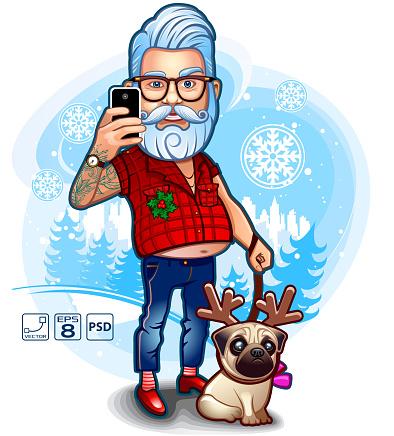 Santa Happy Selfie