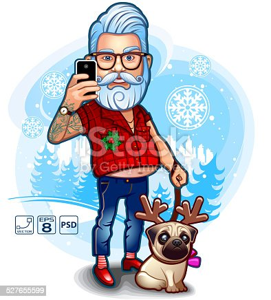 istock Santa Happy Selfie 527655599
