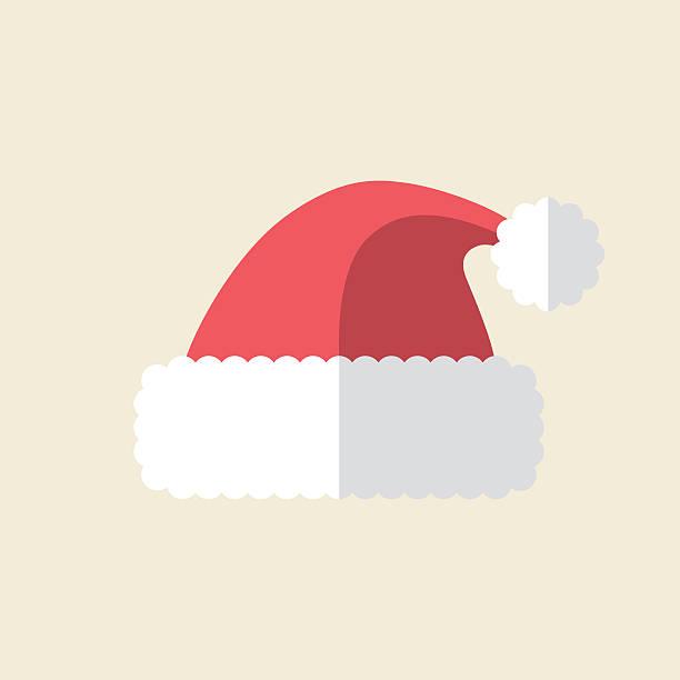 Santa Hat Icon Vector illustration of santa hat. santa hat stock illustrations