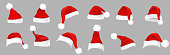 Santa Hat isolated on a grey