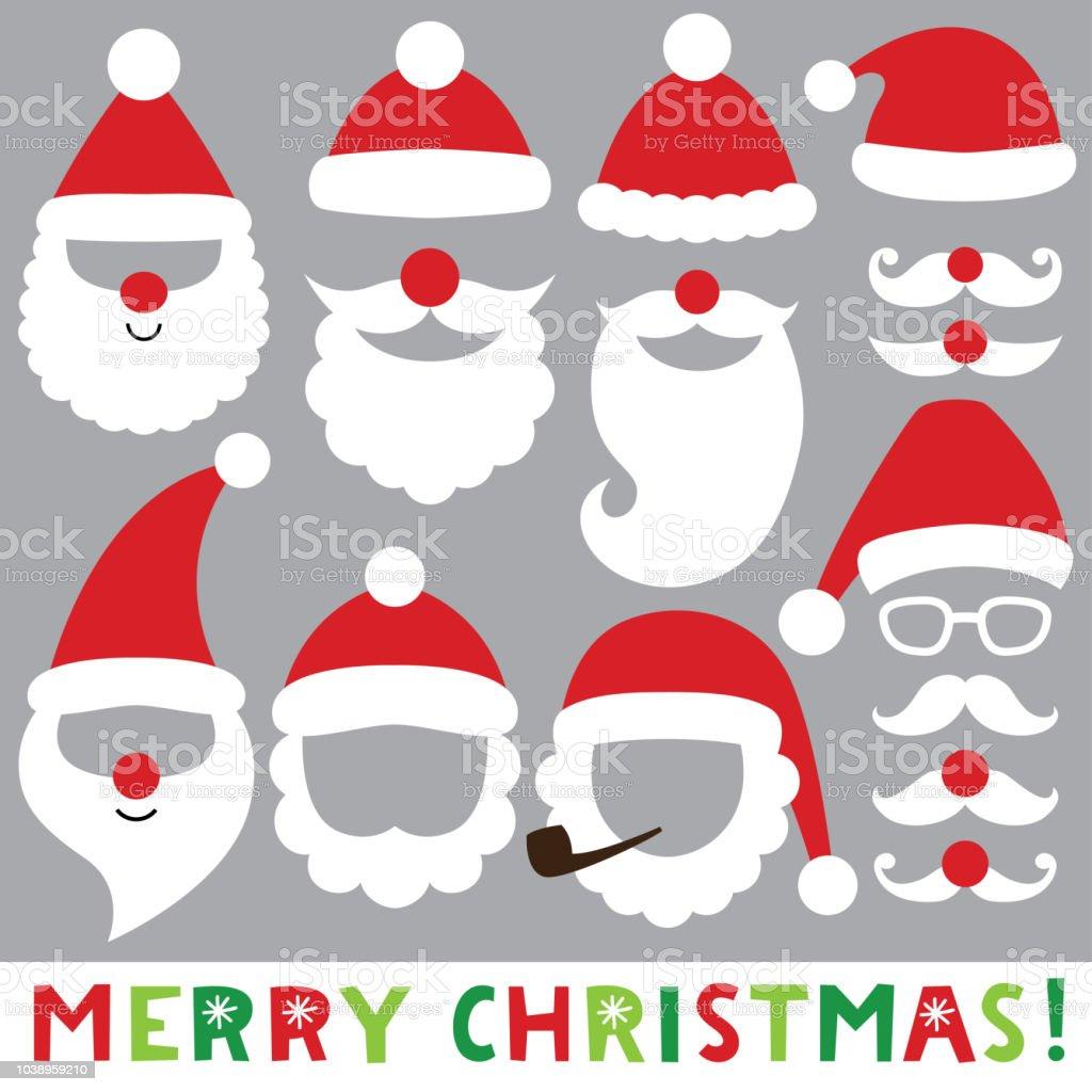 Photo Booth Weihnachten.Santa Hute Barte Und Schnurrbarte Weihnachten Foto Booth