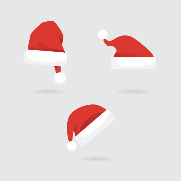Santa Hats vector collection Santa Hats vector collection knit hat stock illustrations