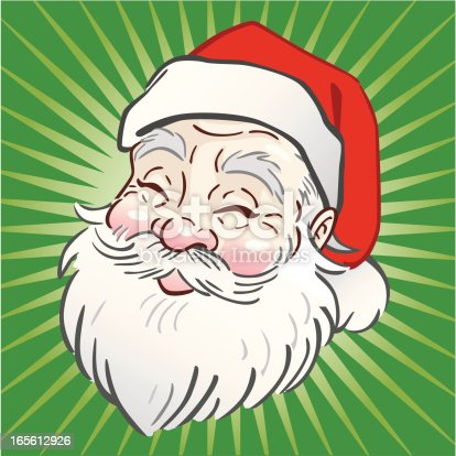 istock Santa Head Icon 165612926