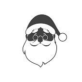 santa icon bnw