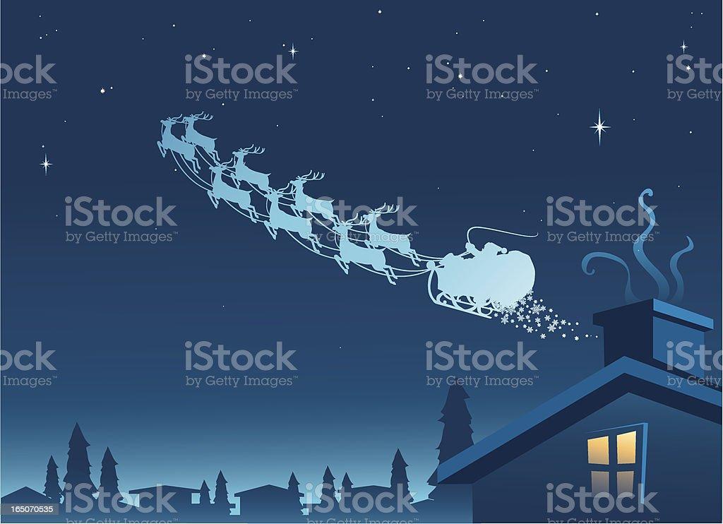 santa in sleigh royalty-free stock vector art