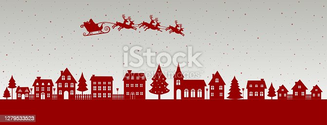 istock Santa is Coming 1279533523