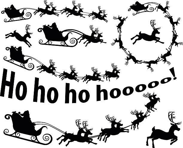 Santa kommt – Vektorgrafik