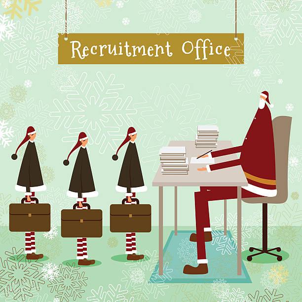 santa klaus christmas elf business employment concept vector art illustration