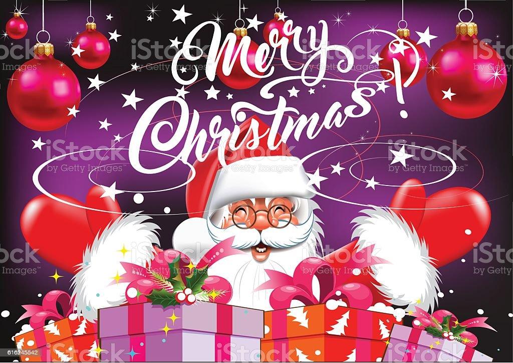 Santa merry christmas text christmas card stock vector art more santa merry christmas text christmas card royalty free santa merry christmas text christmas m4hsunfo