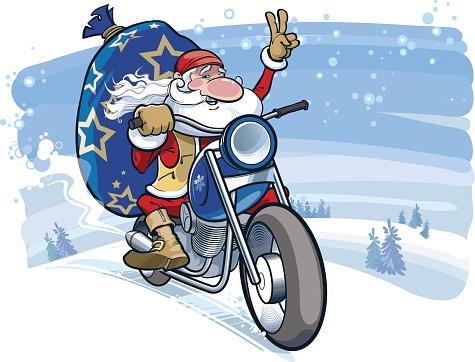 Santa motobiker