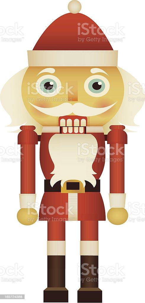 Santa Nutcracker vector art illustration