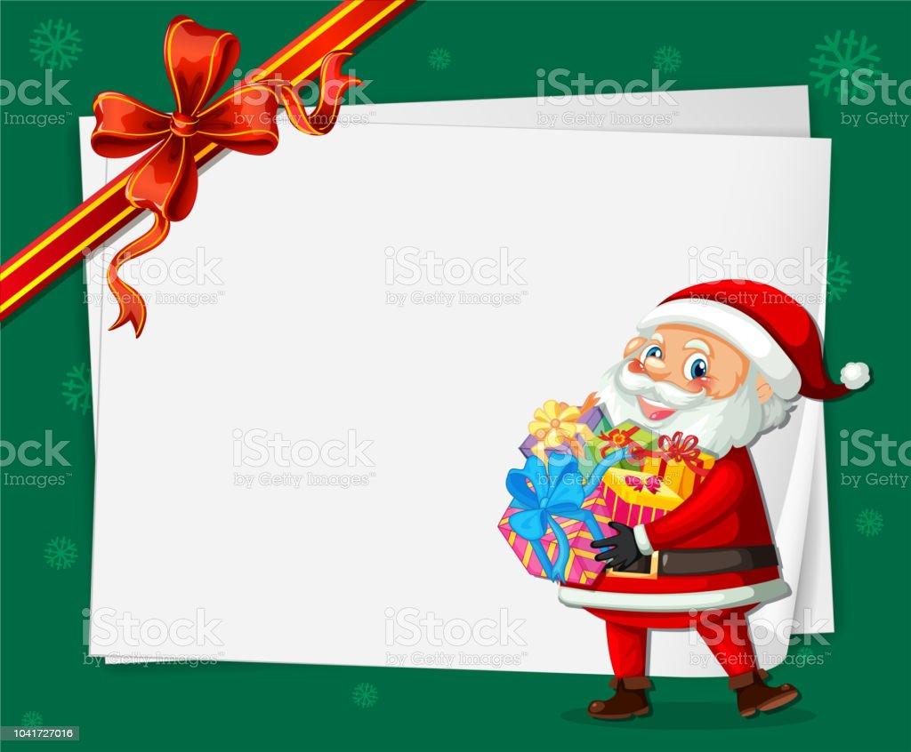 Santa Auf Weihnachtskarte Vorlage Stock Vektor Art Und Mehr Bilder