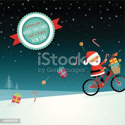 Santa on his bike!