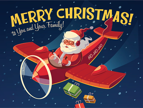 Santa on the plane