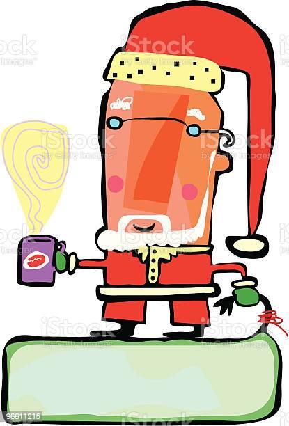 Santa One-vektorgrafik och fler bilder på En människa