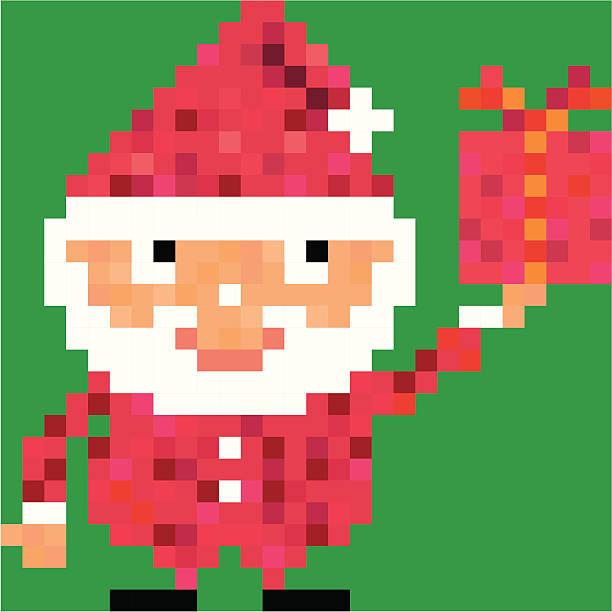 Santa Pikselowany. – artystyczna grafika wektorowa