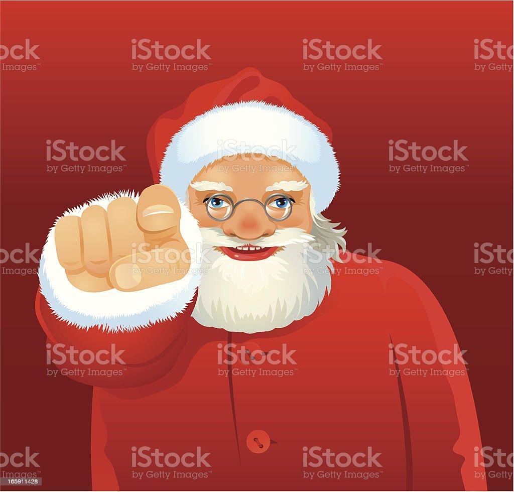Santa pointing royalty-free santa pointing stock vector art & more images of blue eyes