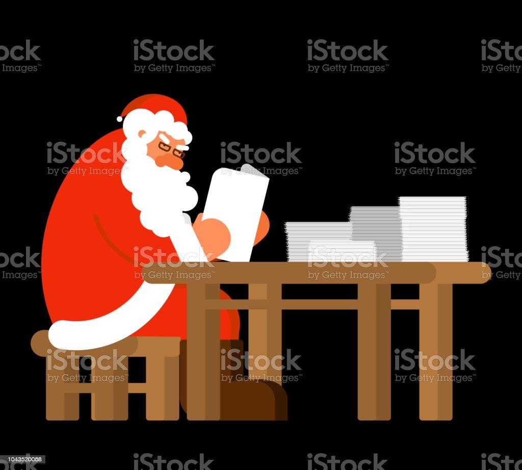 Santa Lesen Mail Claus Und Nachricht Xmasbrief Von Kindern Neujahr ...