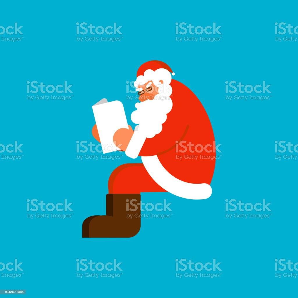 Santa Isolierten Emailvorlage Zu Lesen Claus Und Nachricht Xmasbrief ...