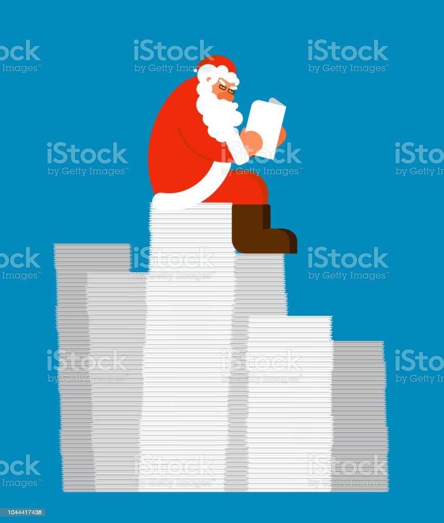 Santa Mail Auf Stapel Von Briefen Zu Lesen Claus Und Nachricht ...