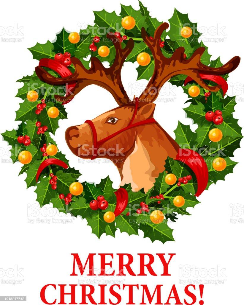 renne santa avec ic ne de couronne de houx no l cliparts vectoriels et plus d 39 images de arbre. Black Bedroom Furniture Sets. Home Design Ideas