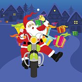 Santa riding motorcycle. Please see some similar pictures in my lightboxs: