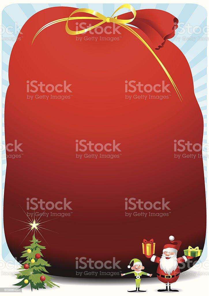 Santa sack royalty-free stock vector art