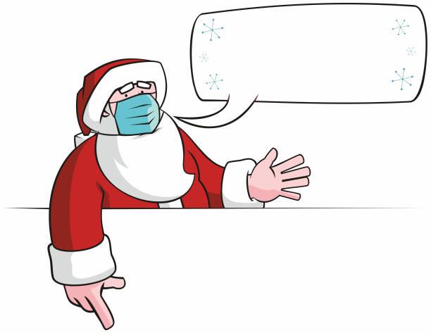 Santa Sign vector art illustration