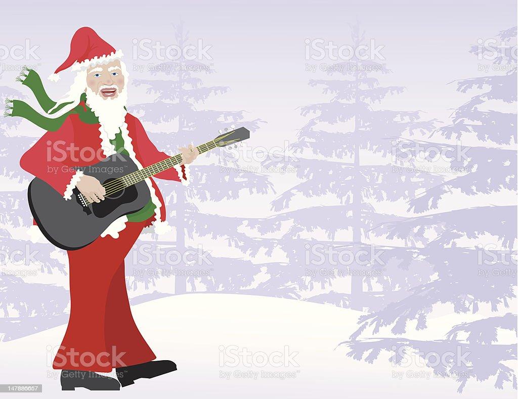 Santa Sings royalty-free santa sings stock vector art & more images of arts culture and entertainment