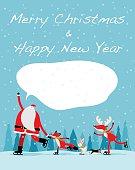 Vector illustration - Santa skate