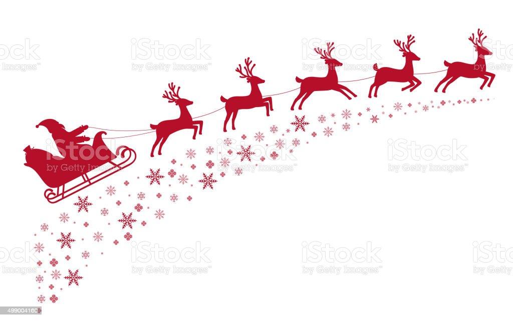 royalty free santa sleigh clip art vector images illustrations rh istockphoto com santa sleigh and reindeer clipart santa claus sleigh clipart
