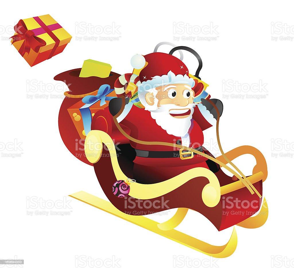 Santa Sleigh Ride royalty-free stock vector art